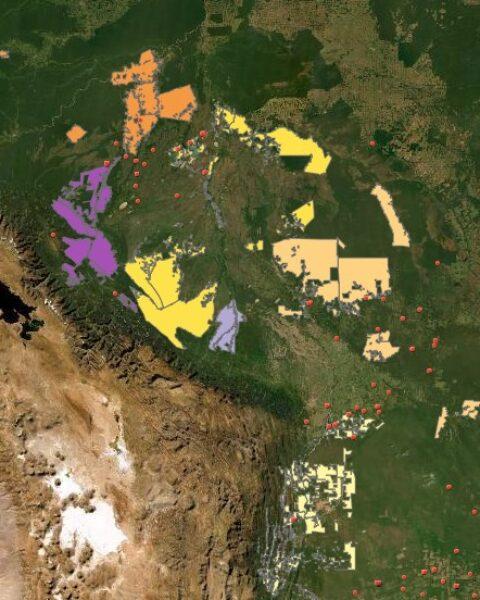 Fuente de información de la Nasa Firms, de los satélites MODIS y VIIRS.